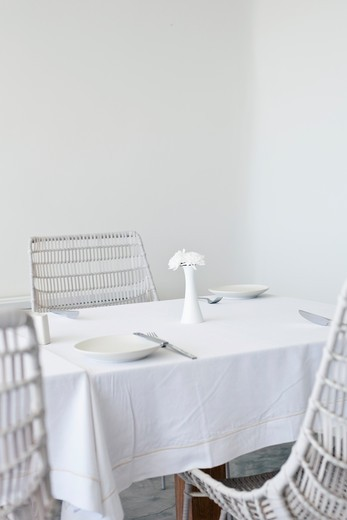 Stock Photo: 4089-213 Interiors of a restaurant, Santorini, Cyclades Islands, Greece