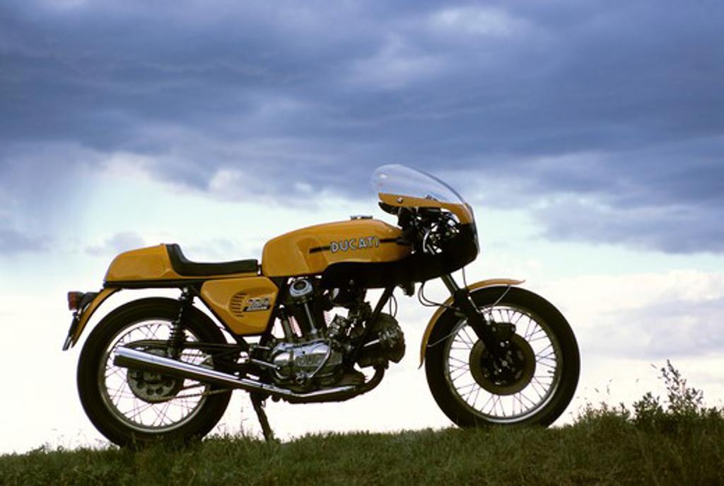Stock Photo: 4093-11037 Ducati 750 Sport 1974 1970s yellow