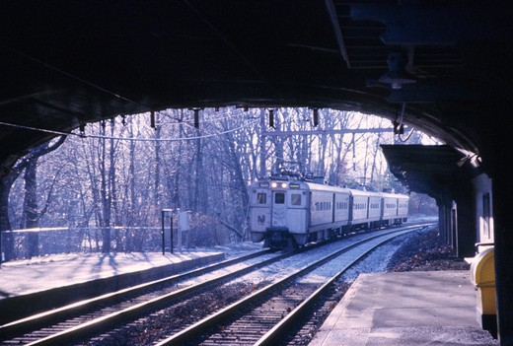 train station train tracks street : Stock Photo