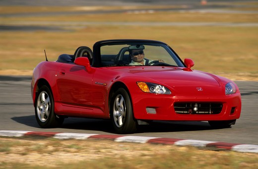 Stock Photo: 4093-12460 Honda S2000 2003 red cornering handling street