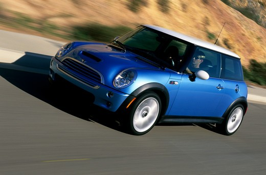 Stock Photo: 4093-12823 Mini Cooper S 2003 blue white