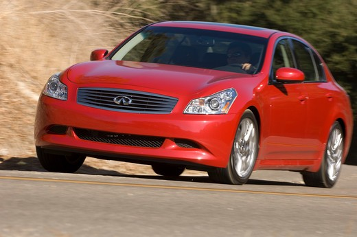 Stock Photo: 4093-13274 2007 red Infiniti G35 Sport sedan
