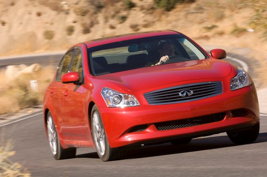 Stock Photo: 4093-13281 2007 red Infiniti G35 Sport sedan