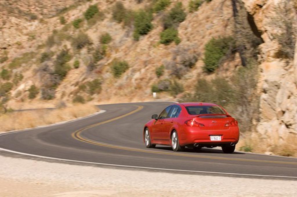 2007 red Infiniti G35 Sport sedan : Stock Photo