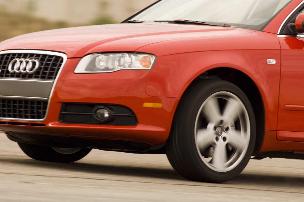 2007 Audi A4 2.0T S-Line Quattro AWD action : Stock Photo