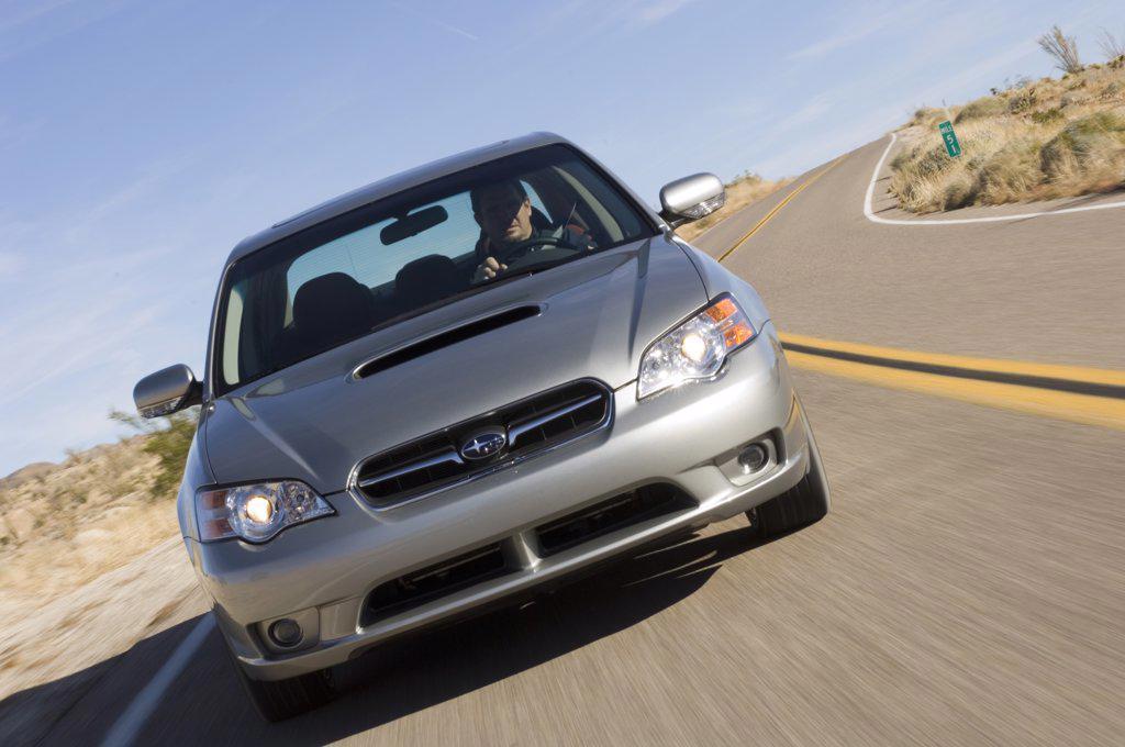2007 silver Subaru Legacy 2.5 GT spec. B : Stock Photo