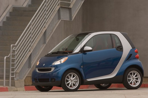 Smart Fortwo Passion Cabriolet parked, side view : Stock Photo
