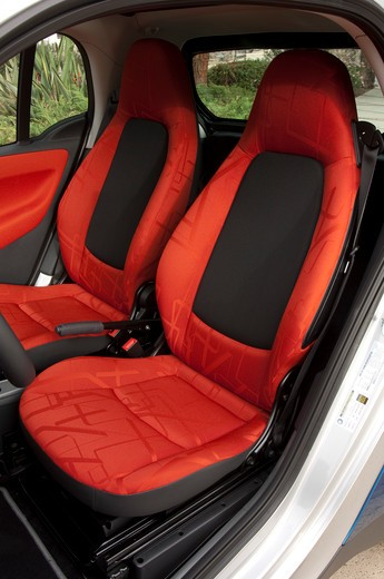 Smart ForTwo Passion Cabriolet seats : Stock Photo
