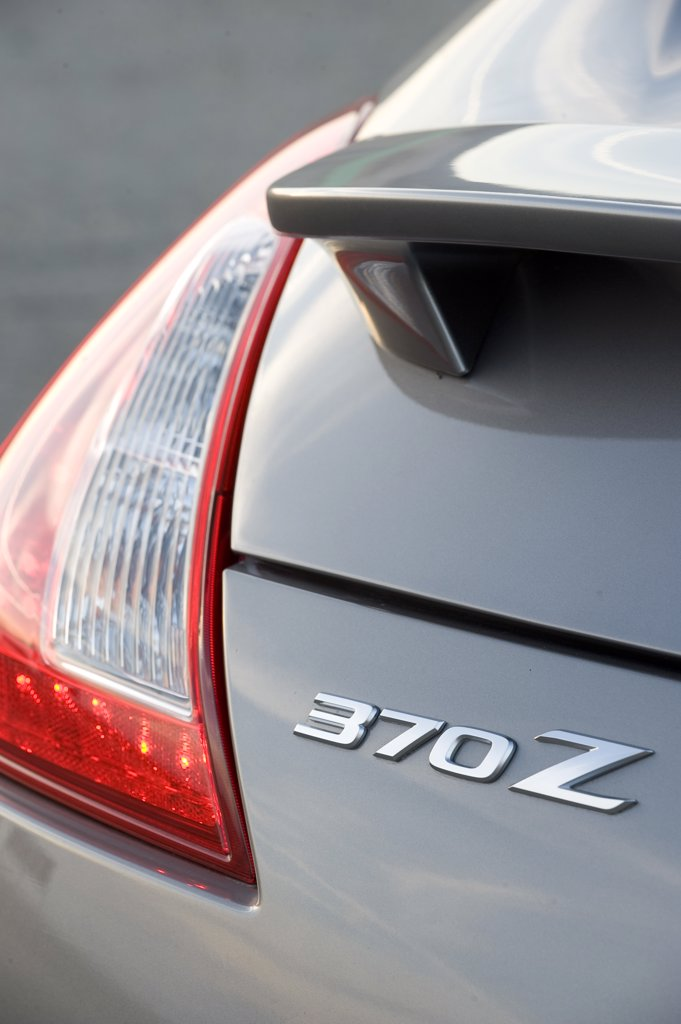 2009 Nissan 370Z close-up of tail light : Stock Photo