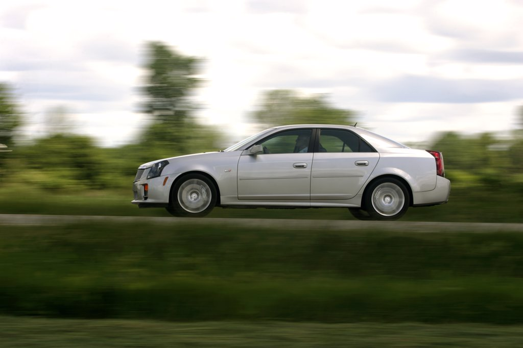 2006 Cadillac CTS-V silver : Stock Photo