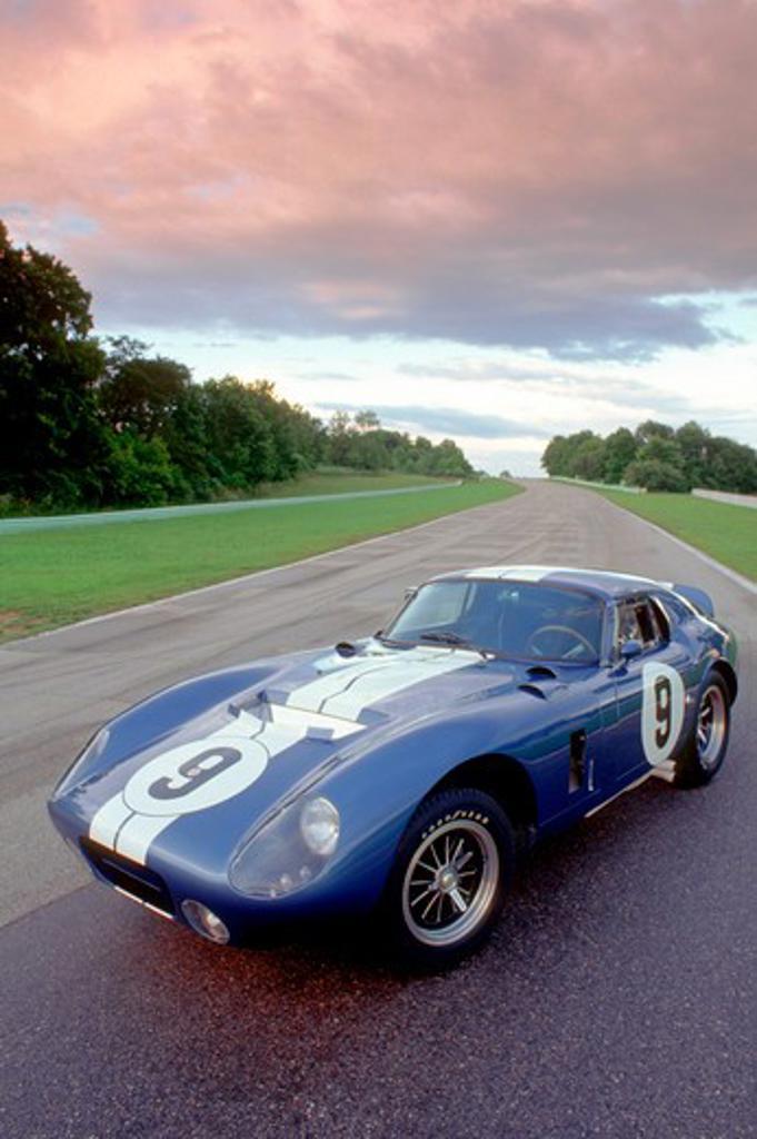 1964 Shelby Cobra Daytona Coupe Blue : Stock Photo