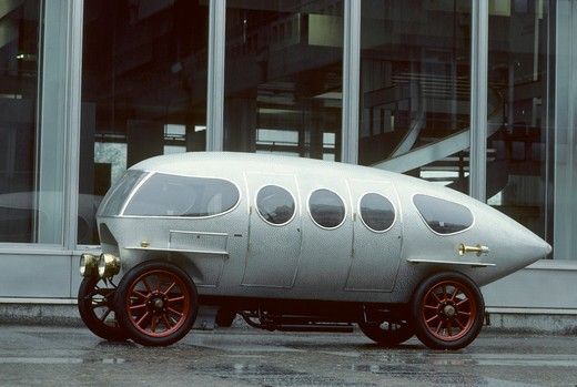 Stock Photo: 4093-16709 1914 Alfa Romeo Ricotti vintage Raindrop profile beauty. The A.L.F.A 40/60 HP was race and road car made by Italian car manufacturer A.L.F.A (later called Alfa Romeo). In 1914 Marco Ricotti from Carrozzeria Castagna designed A.L.F.A. 40/60 HP Aerodinamica prototype model which could reach 139 km/h top speed. commercial building
