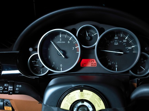 BMW dashboard guages speedometers : Stock Photo