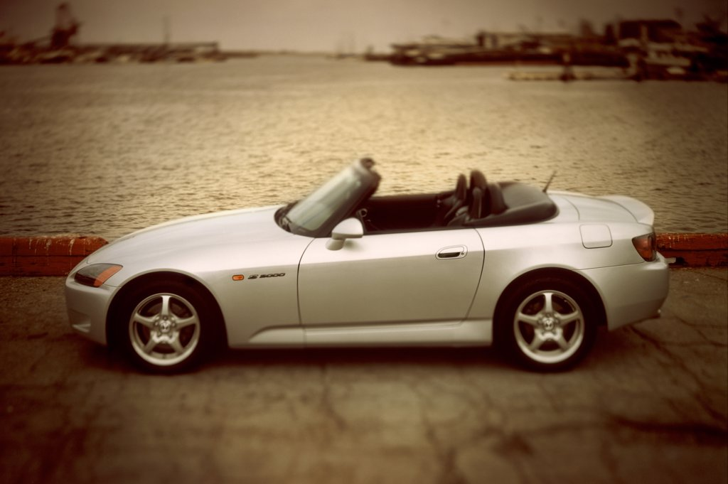 Stock Photo: 4093-17695 Honda S2000 2001 white harbor street