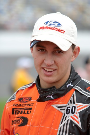 Driver in the Indy Car Series Graham Rahal : Stock Photo