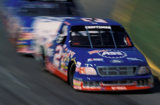 Stock Photo: 4093-20587 NASCAR Craftsman Truck Series curve race car cars