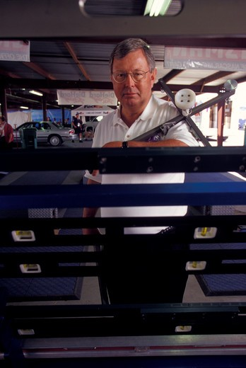 J Kirk Russell chief steward CART tech inspection portrait equipment : Stock Photo
