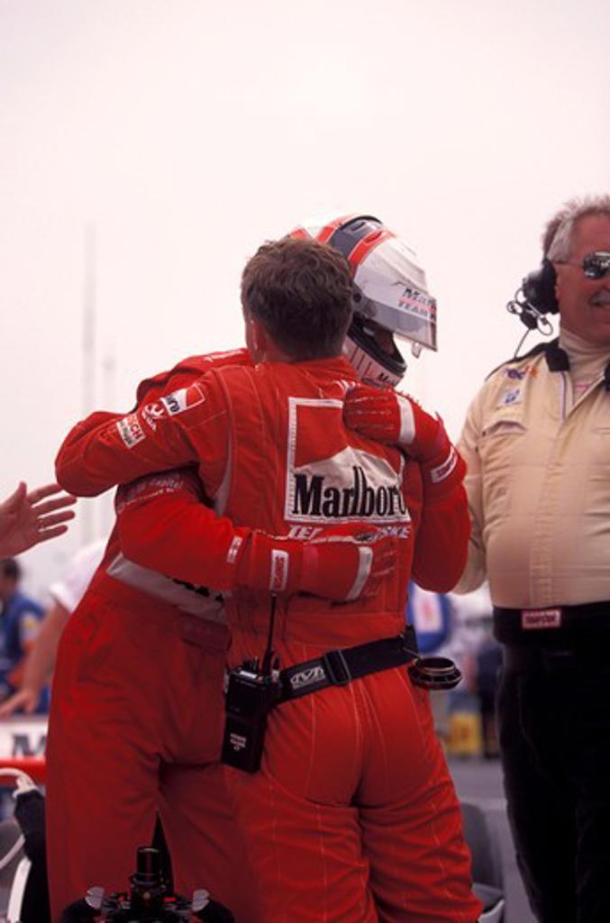 Stock Photo: 4093-21655 Gil de Ferran driver CART Team Penske victory race car