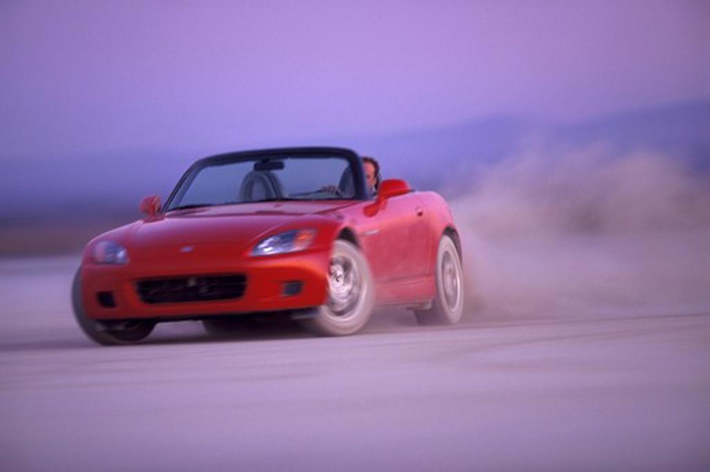 Stock Photo: 4093-21700 Honda S2000 2001 red dust slide cornering street