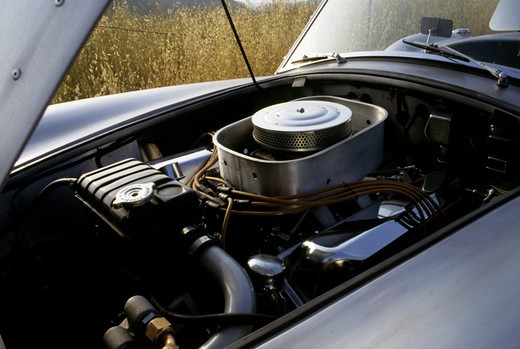 Shelby Cobra silver air cleaner : Stock Photo