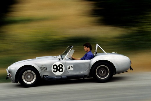 Shelby Cobra silver : Stock Photo