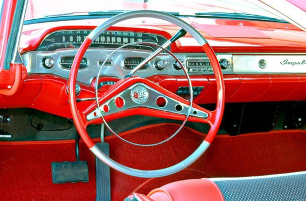 1962 Chevrolet Impala SS Red : Stock Photo