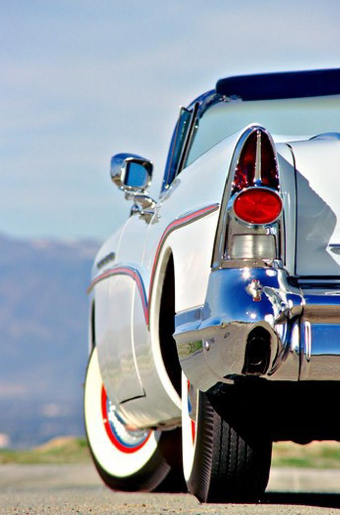 1957 Buick Bilar Blue Tail Light : Stock Photo