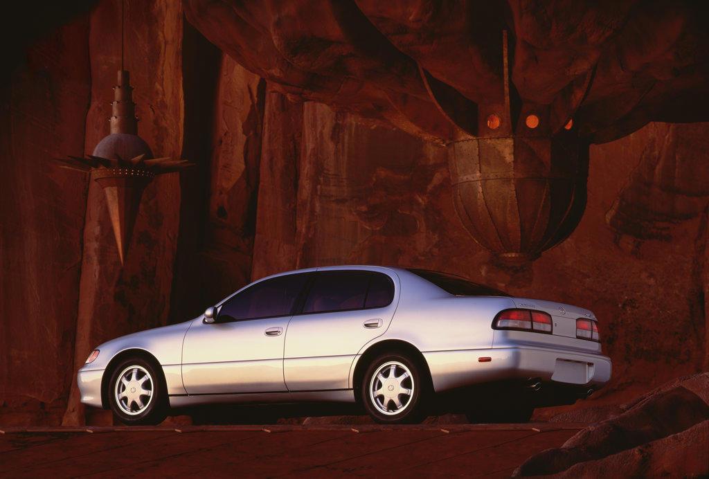 Lexus GS 400 1996 1997 1990s silver : Stock Photo
