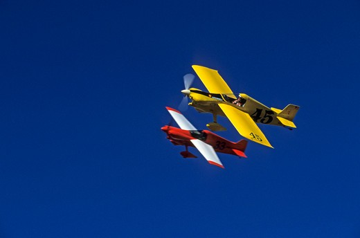 Airplanes flying in formation at an airshow : Stock Photo