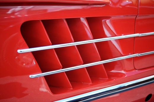 A close up detail shot of a 1950's Mercedes 300 SL : Stock Photo
