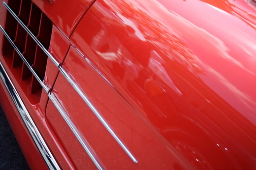 Stock Photo: 4093-28016 A close up detail shot of a 1950's Mercedes 300 SL