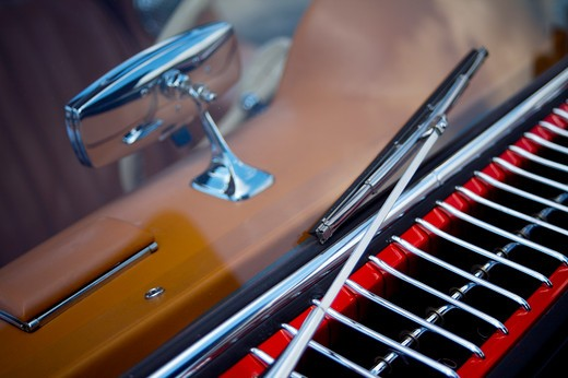 Stock Photo: 4093-28025 A close up detail shot of a 1950's Mercedes 300 SL