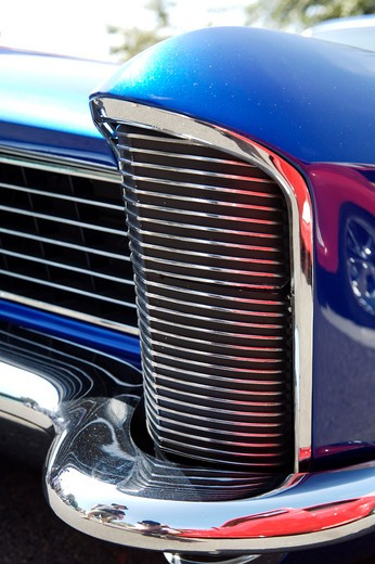 A close up detail shot of a 1965 Buick front fender : Stock Photo
