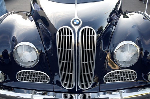 Stock Photo: 4093-28093 A close up detail shot 1952 BMW 501