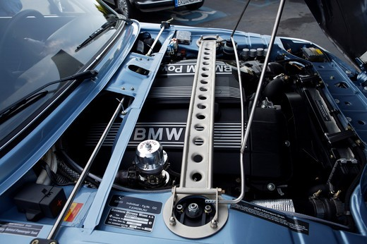 Stock Photo: 4093-28097 A close up detail shot of a 1973 BMW 2002 side