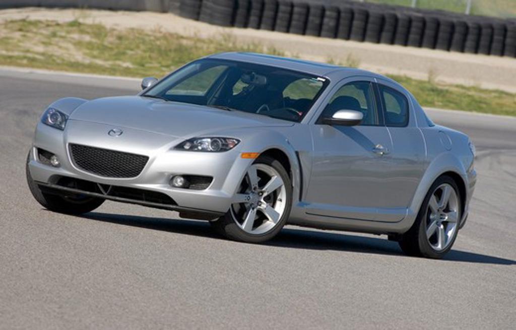 Mazda RX-8 2005 silver : Stock Photo