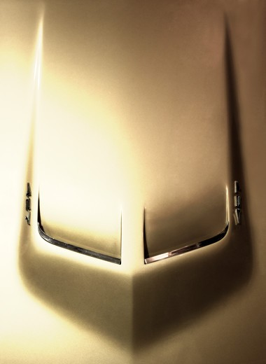 Stock Photo: 4093-3113 1971 Chevrolet  Corvette, close-up of hood