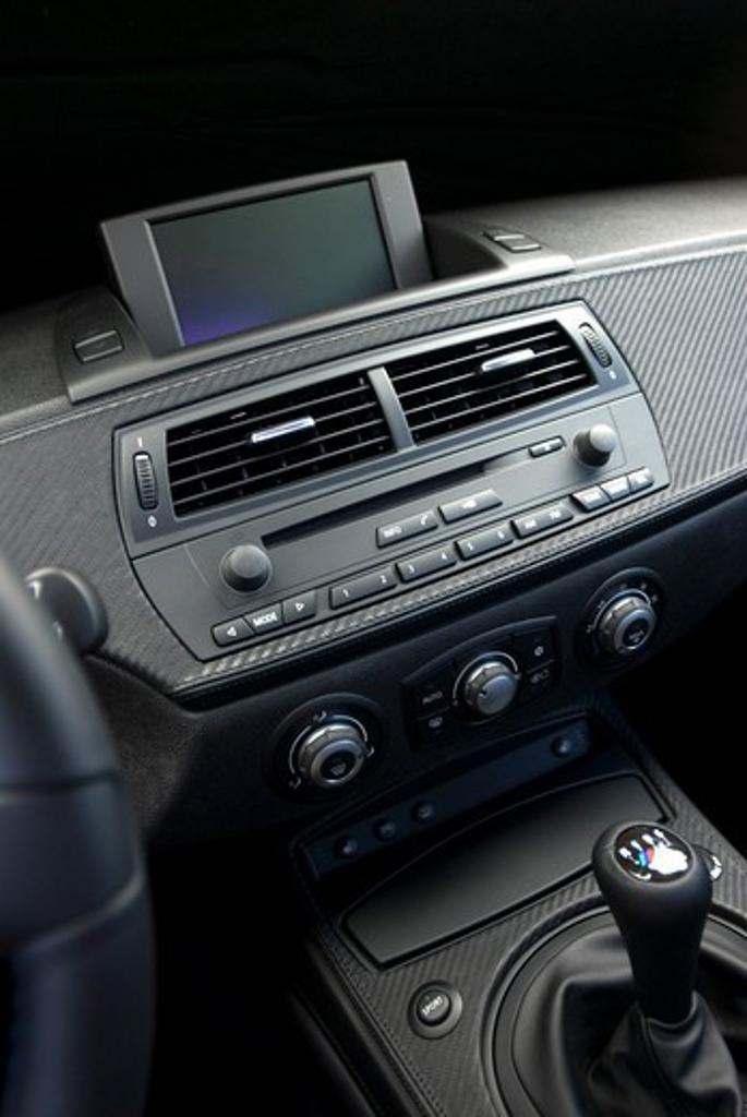 BMW M3 interior inside with studio lighting : Stock Photo