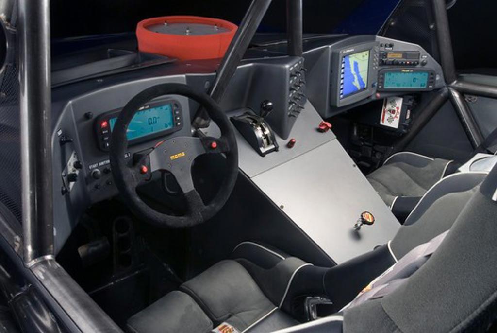 Baja Race truck interior : Stock Photo
