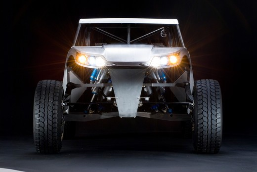 front view looking into the lights of a Baja Racer : Stock Photo