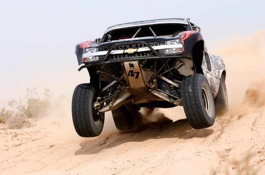 Baja Racer off road in action : Stock Photo