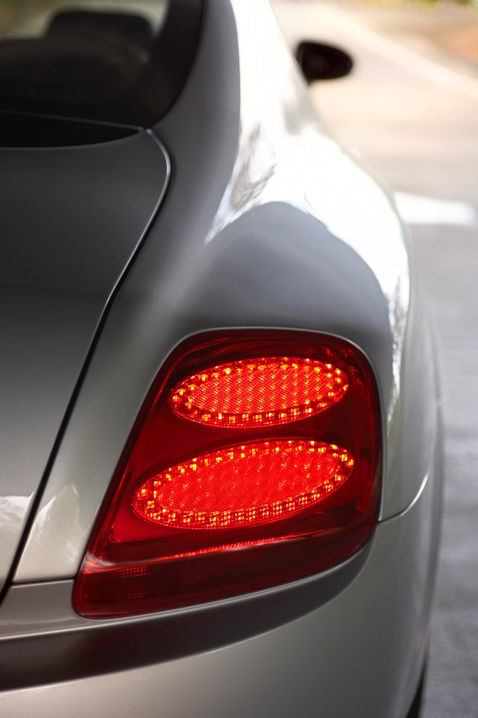 detail,2006 Bentley Continental GT silver tail light : Stock Photo
