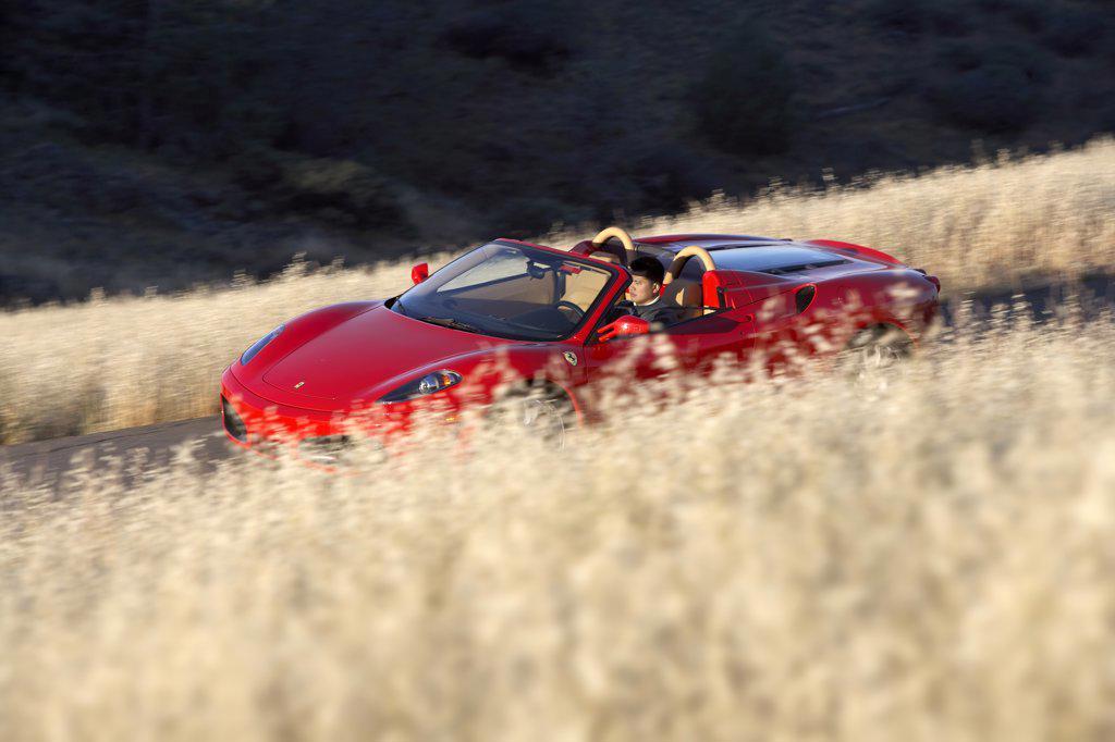 Italian Manufacturers European Manufacturers 2006 Ferrari F430 Spider Red : Stock Photo