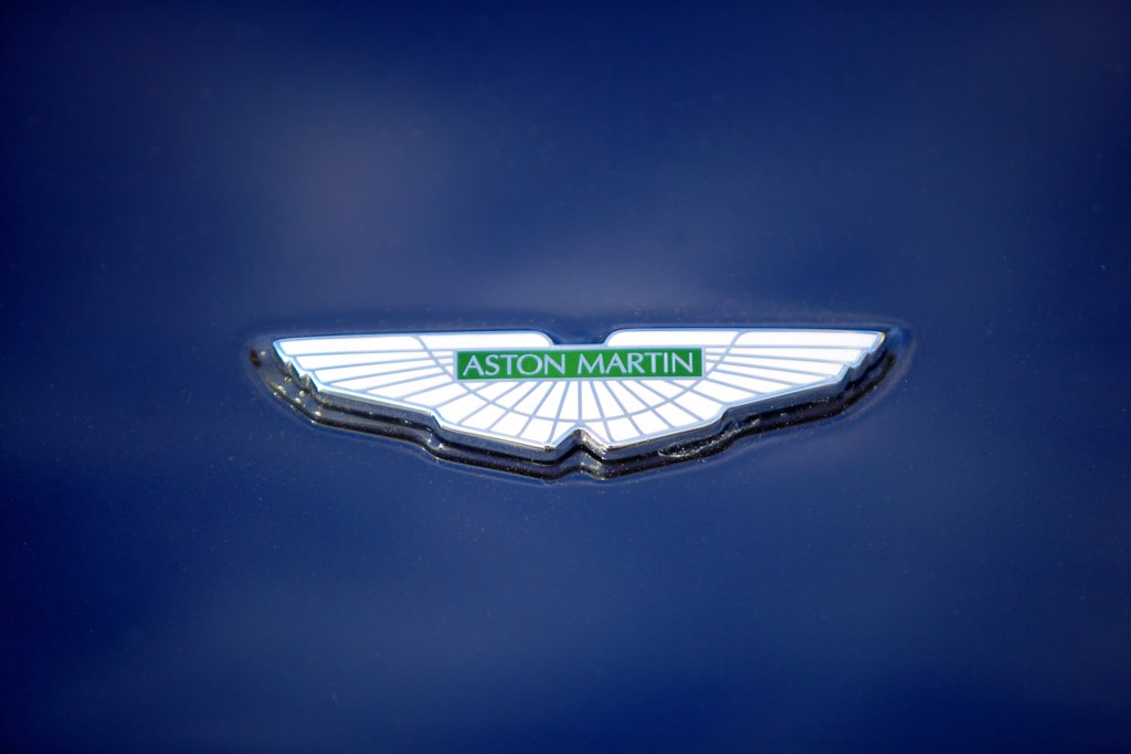 2006 Aston Martin DB9 Volante Blue : Stock Photo