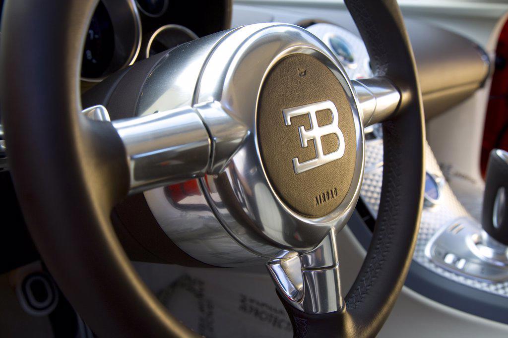 2007 Bugatti Veyron on an empty road : Stock Photo