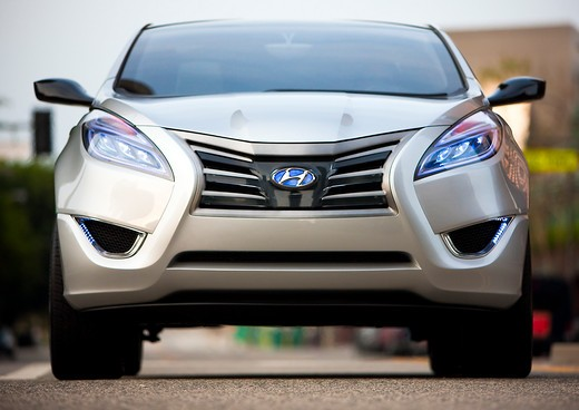 Stock Photo: 4093-6089 2009 Hyundai HCD-11 Nuvis Concept car in urban setting, front view