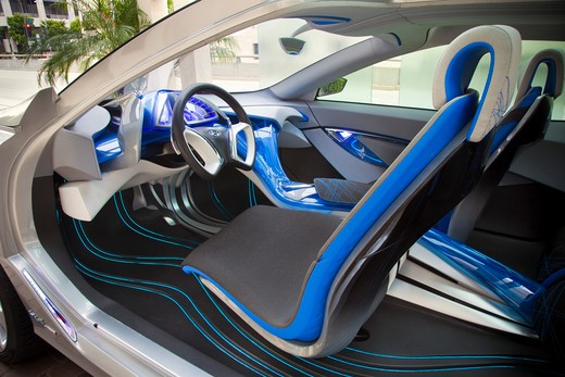 2009 Hyundai HCD-11 Nuvis Concept car interior, close-up : Stock Photo