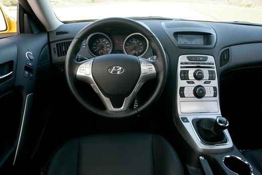 Stock Photo: 4093-8464 2010 Hyundai Genesis instrument panel and steering wheel