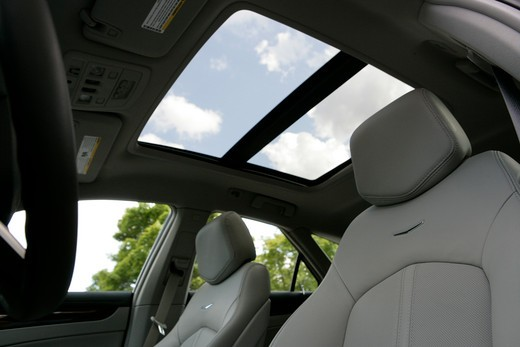 2010 Cadillac CTS Sport Wagon interior, seats, close-up : Stock Photo