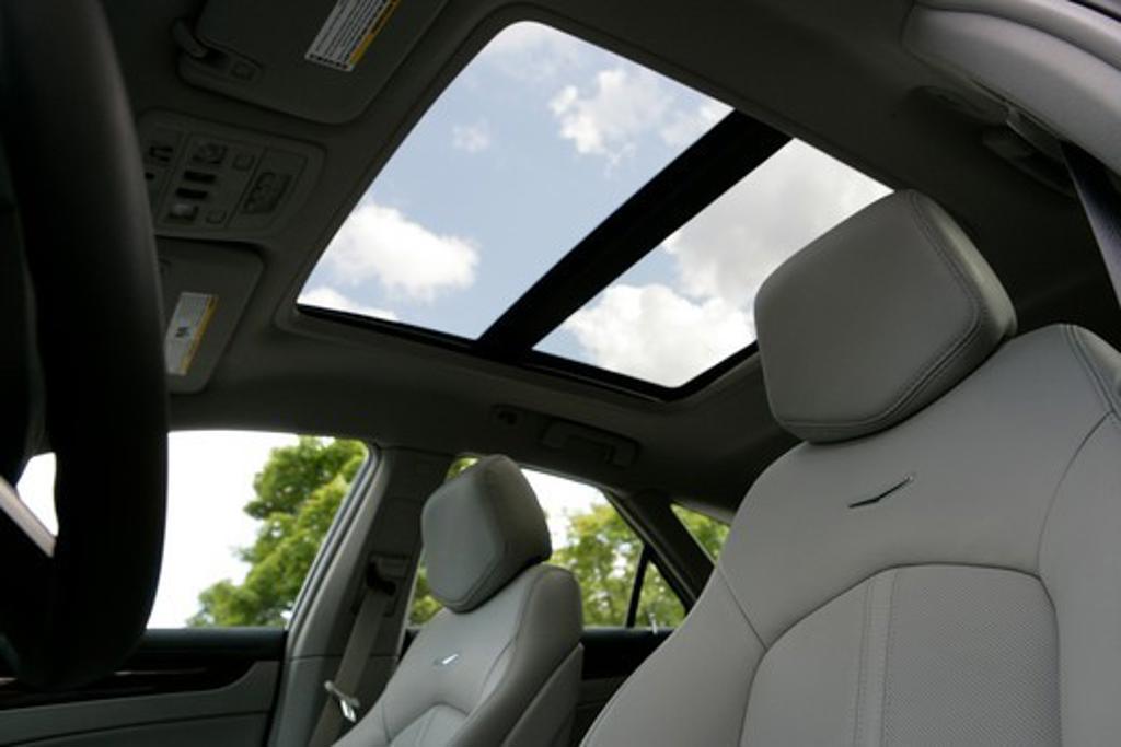 Stock Photo: 4093-8529 2010 Cadillac CTS Sport Wagon interior, seats, close-up